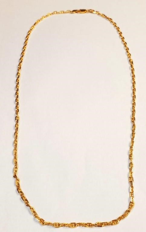 (7) - 18K GOLD ITALIAN DESIGN NECKLACE 11.9 G