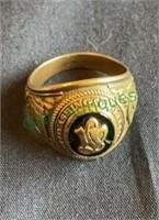 Class ring marked Josten 10k class ring from
