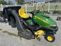 John Deere SST18 riding zero turn lawn mower.