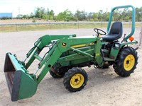 Lot 5003,  JD Tractor - Absentee bidding available on this item.  Click catalog tab for more pics, video & info.