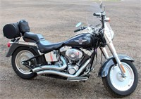 Lot 5005, 2005 Harley Davidson Fat Boy Motorcycle - Absentee bidding available on this item.  Click catalog tab for more pics, video & info.