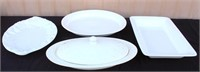Catering Equip- White Serving Platters