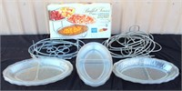 Catering Equip- Plastic Serving Trays w/Tiered Stands