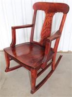 Vintage Grandmothers Cherrywood Rocking Chair