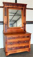 Vintage Victorian Dresser w/Mirror