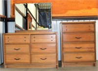 1950's Dresser, Mirror and Chest of Drawers