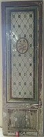 Antique leaded stained glass door, modifications