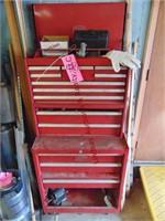 Proto metal tool box on wheels, 13 drawers