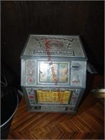 Vintage puritan baby vender coin slot machine