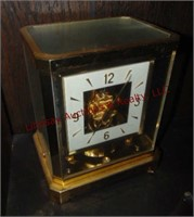 Brass and Glass mantel clock, Le Coultre & EIE
