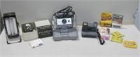 Assorted Vintage Cameras & Film Untested