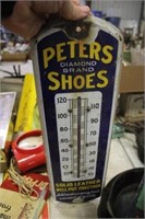 PETERS SHOES METAL THERMOMETER