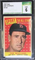1958 Topps 485 All Star Ted Williams