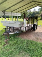 16ft Utility Trailer with Toolbox