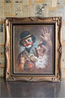 Chuck Oberstein Clown Cream for a Day Oil Painting