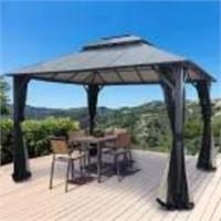 Gazebo 10x12 Alum Double Roof