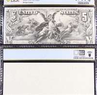 PCGS 1896 $5 Bureau of Engraving & Printing Silver