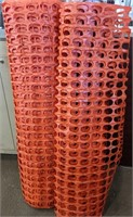 Two 50' rolls of Orange Plastic Barrier Mesh