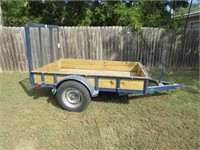 Utility trailer with fold down gate 8' x 5'