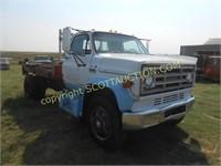 1978 GMC 6000 flatbed winch truck,