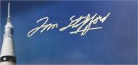 Autographed Apollo Soyuz Rocket Canvas