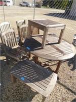 8 piece teak wood patio furniture