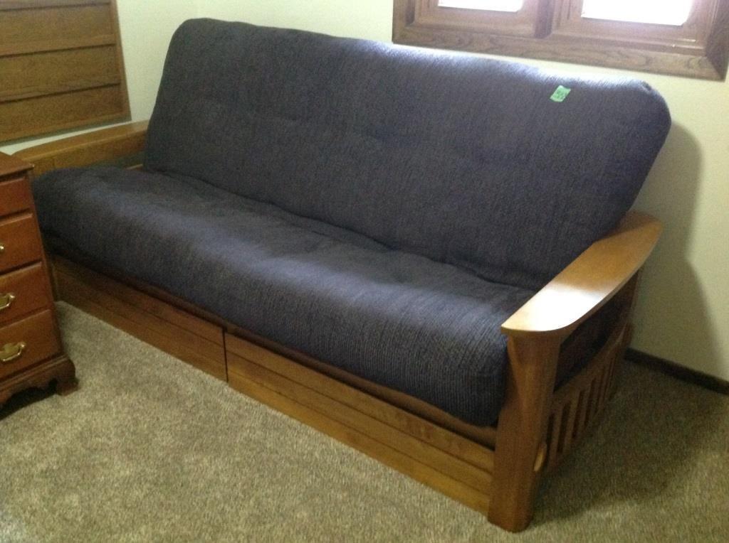 futon w/drawers, bring help to load