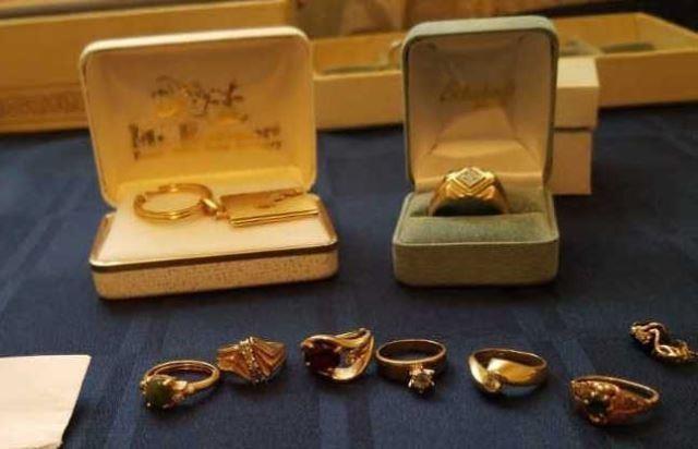 Various karat of gold jewelry